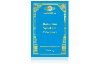 Maharishi Speaks to Educators, Engels
