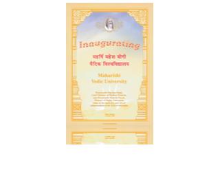 Maharishi Vedic University – Inauguration, Engels