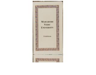 Maharishi Vedic University – Exhibition, Engels