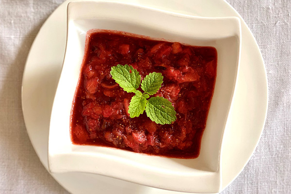 Chutney met aardbeien en vijgen