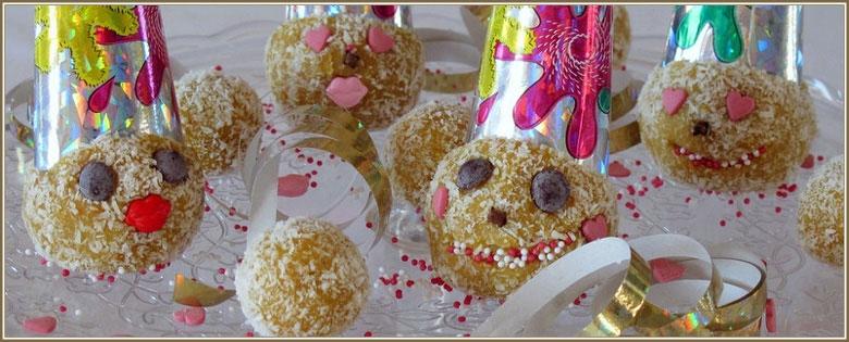 Carnavalballetjes met kokos en sinaasappel
